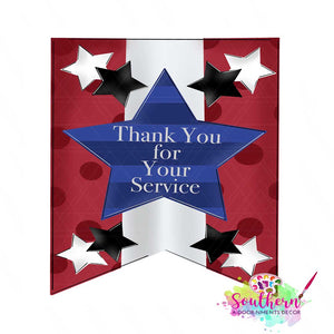 Thank You for Your Service Template & Digital Cut File