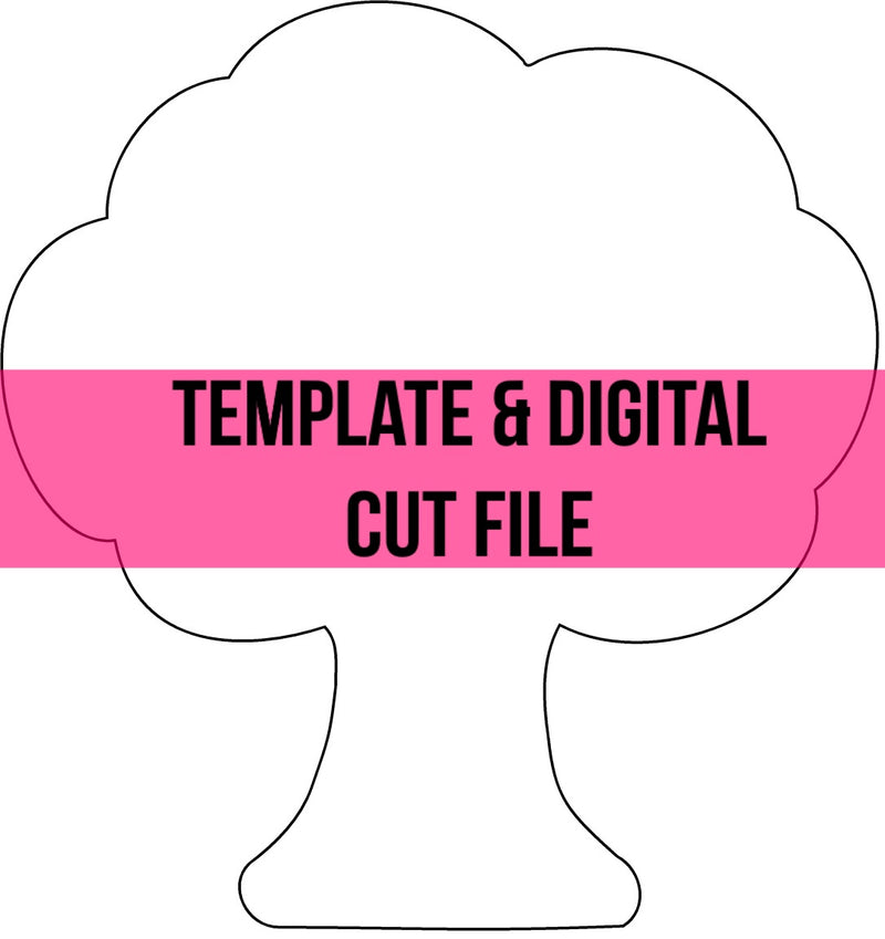 Tree Template & Digital Cut File