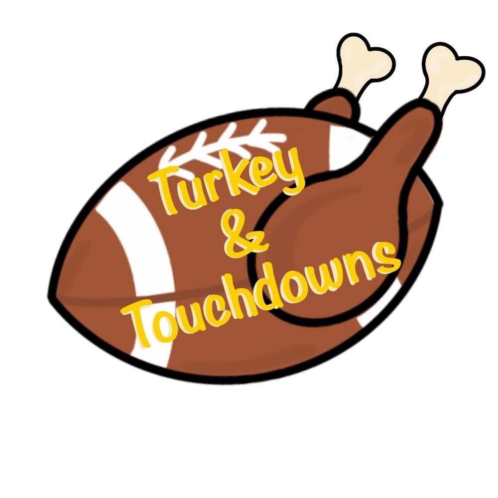 Turkey & Touchdowns Etched BLANK Ornament, Attachment or Door Hanger