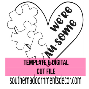 We're Au-some Template & Digital Cut File