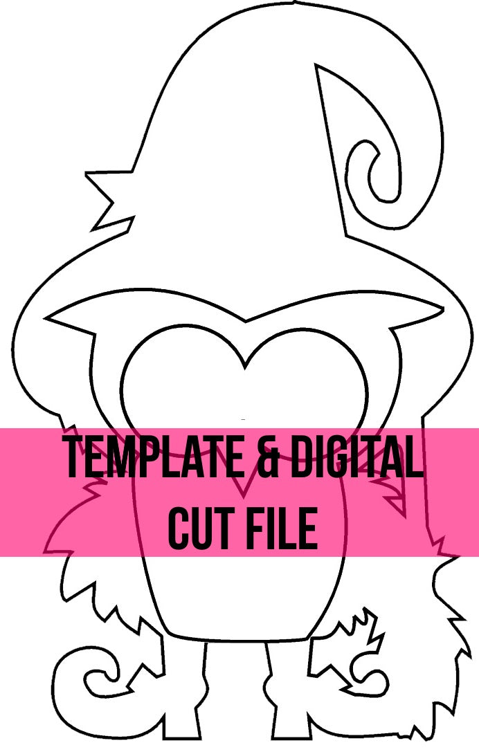 Witch Owl Template & Digital Cut File