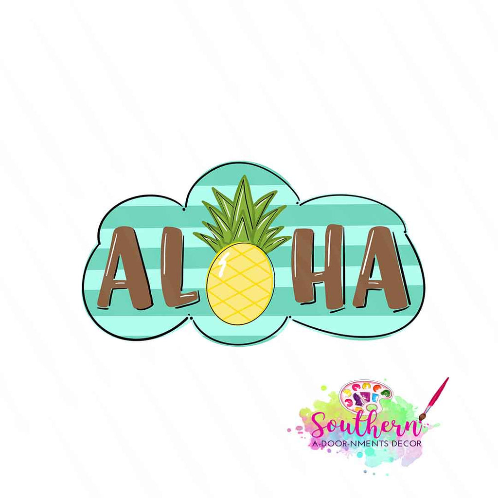 Aloha Template & Digital Cut File