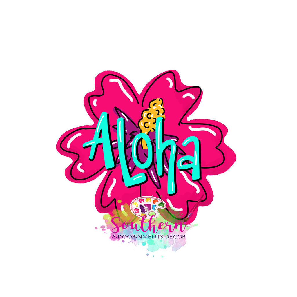 Aloha Flower Template & Digital Cut File