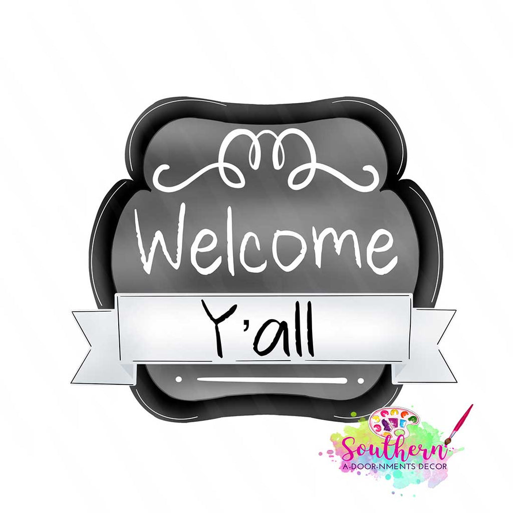 Welcome Banner Sign Template & Digital Cut File
