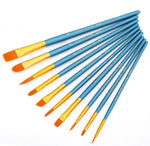 Assorted Paint Brush Set of 10