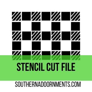 Buffalo Plaid Stencil Digital Cut File