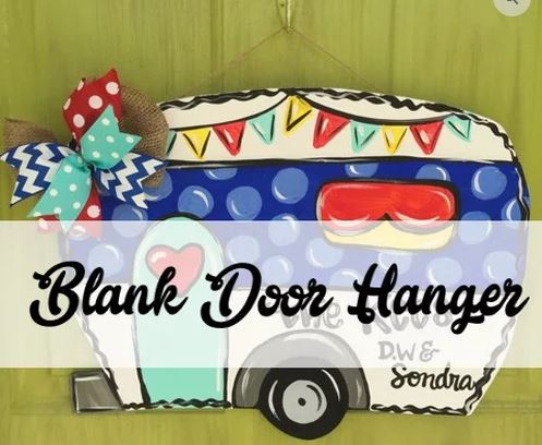 BLANK Camper Ornament, Attachment or Door Hanger