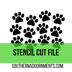 Cat Paw Stencil Digital Cut File