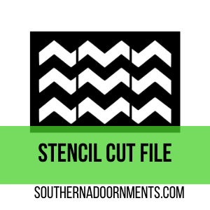 Chevron Stencil Digital Cut File