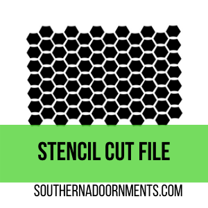 Chicken Wire Stencil Digital Cut File