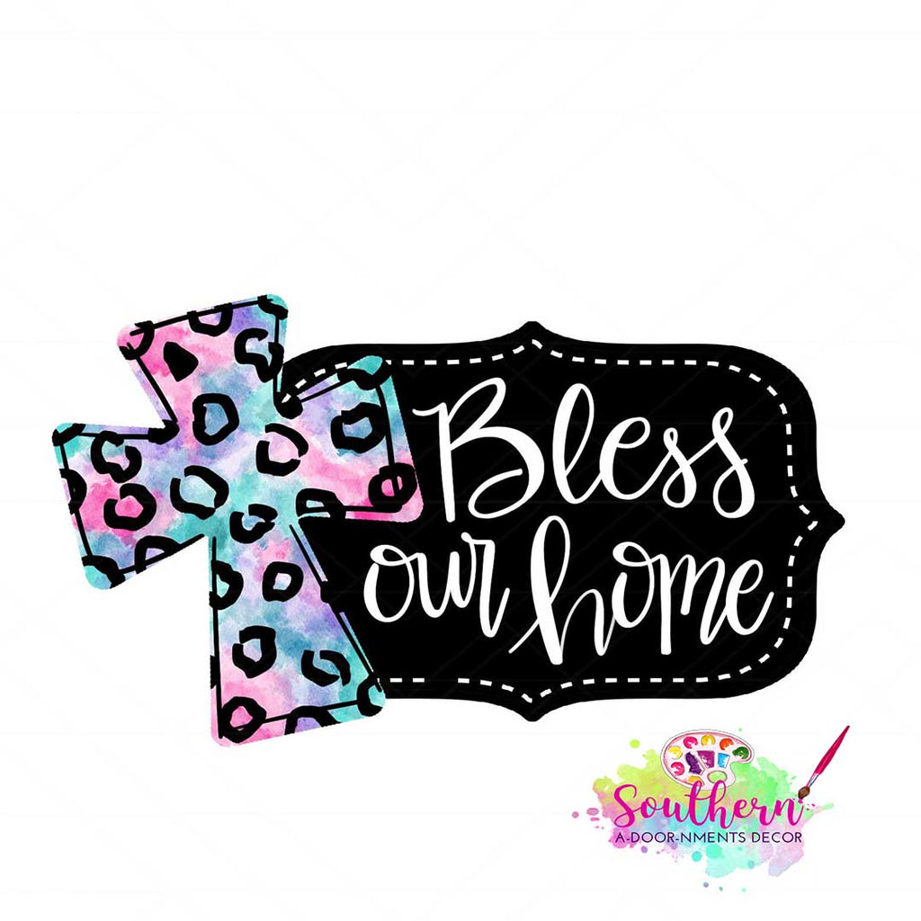 Bless Our Home with Cross BLANK