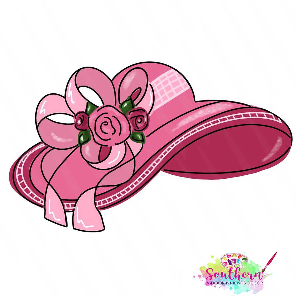 BLANK Derby Hat Ornament, Attachment or Door Hanger