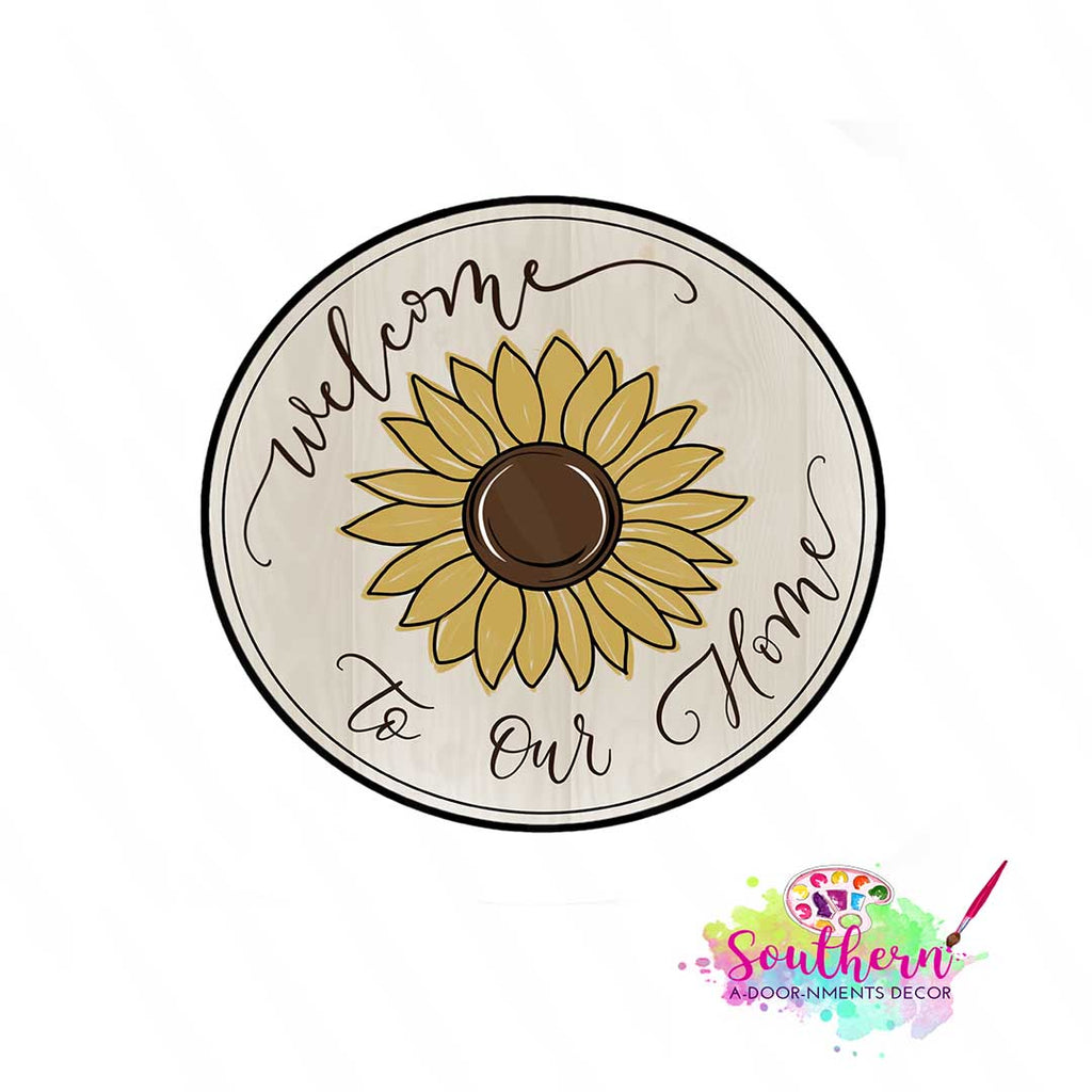 Farmhouse Sunflower Wood BLANK - WITH words