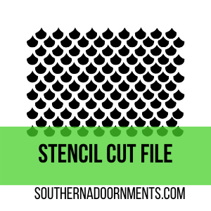 Fish Scales Stencil Digital Cut File