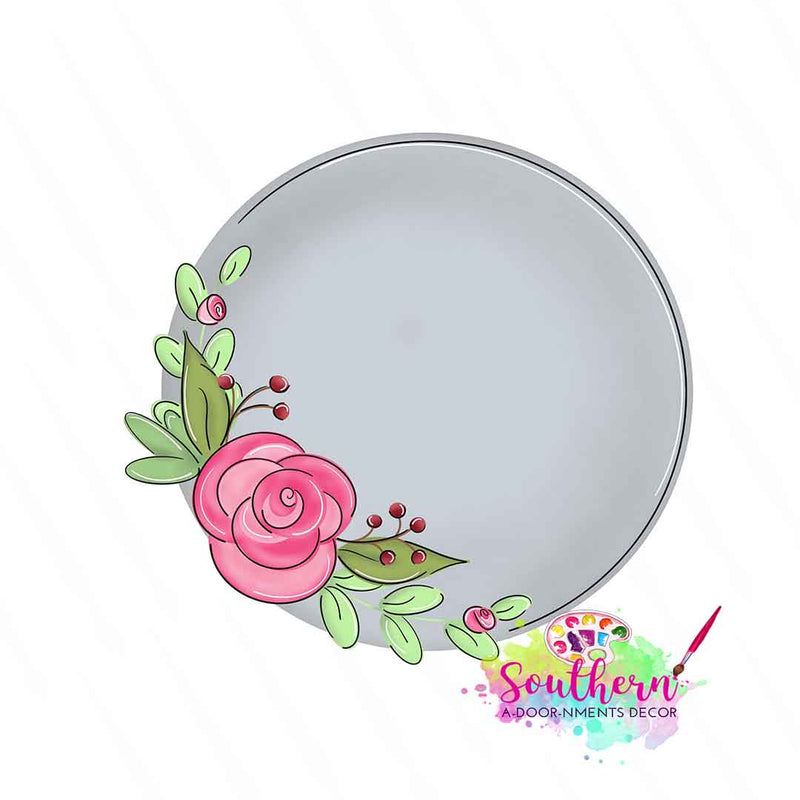 Floral Circle Template & Digital Cut File