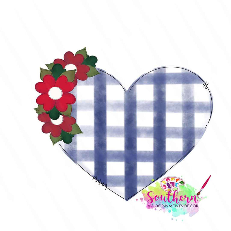 Floral Heart Wooden Blank
