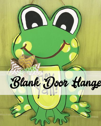 BLANK Frog Ornament, Attachment or Door Hanger