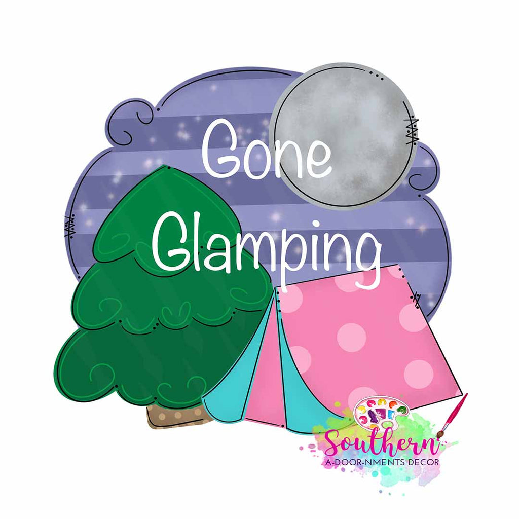 Gone Glamping Template & Digital Cut File