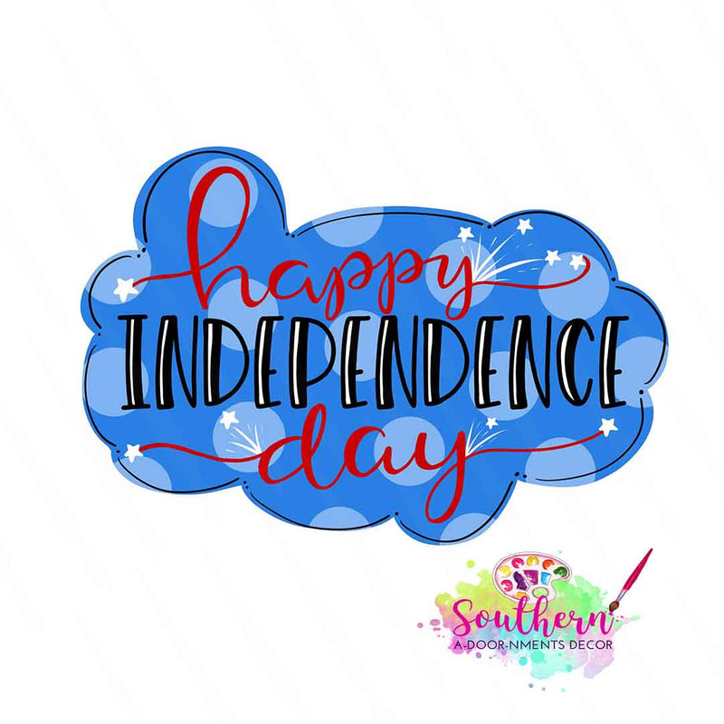 Happy Independence Day Wooden Blank