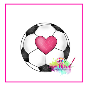 Heart of Soccer Blank