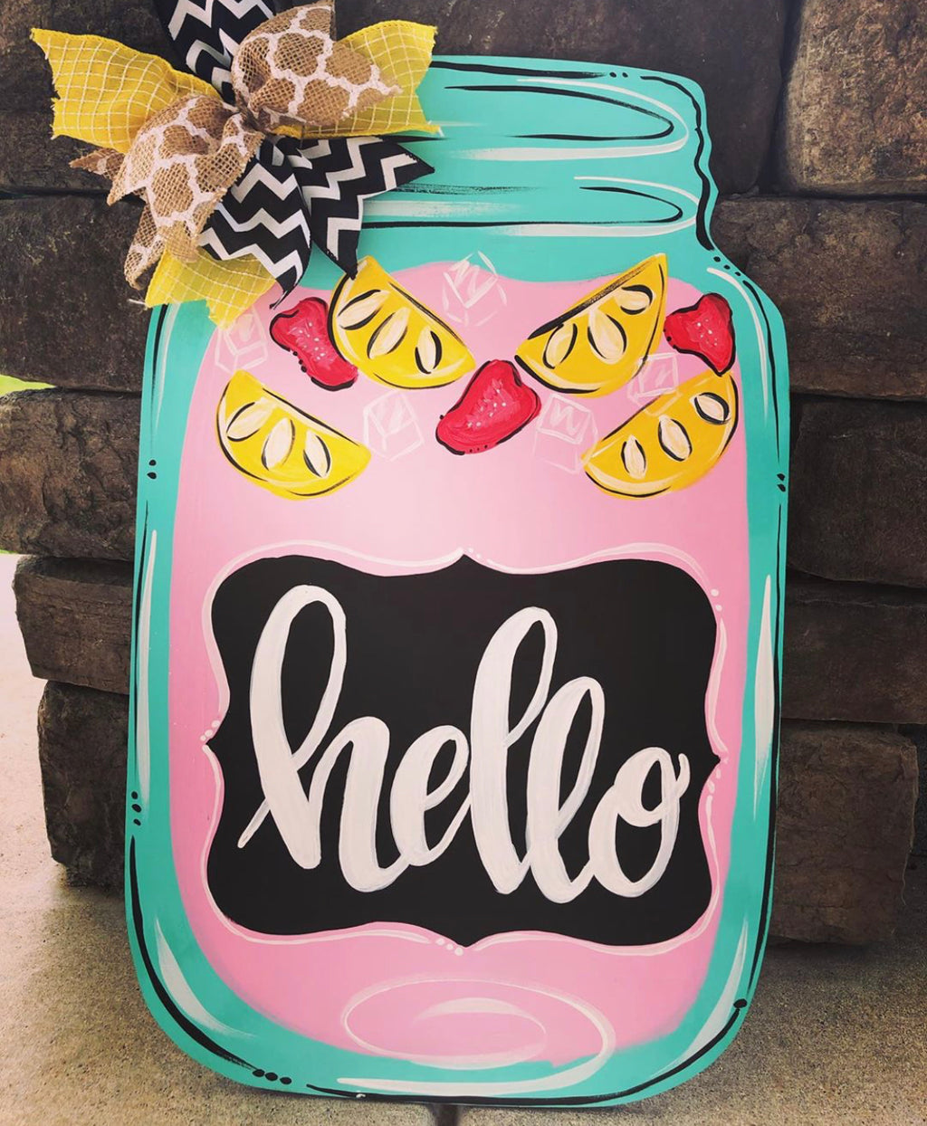 Strawberry Lemonade Door Hanger - Instructional Video Tutorial