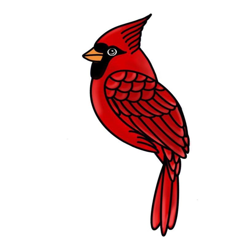 Cardinal  Template & Digital Cut File