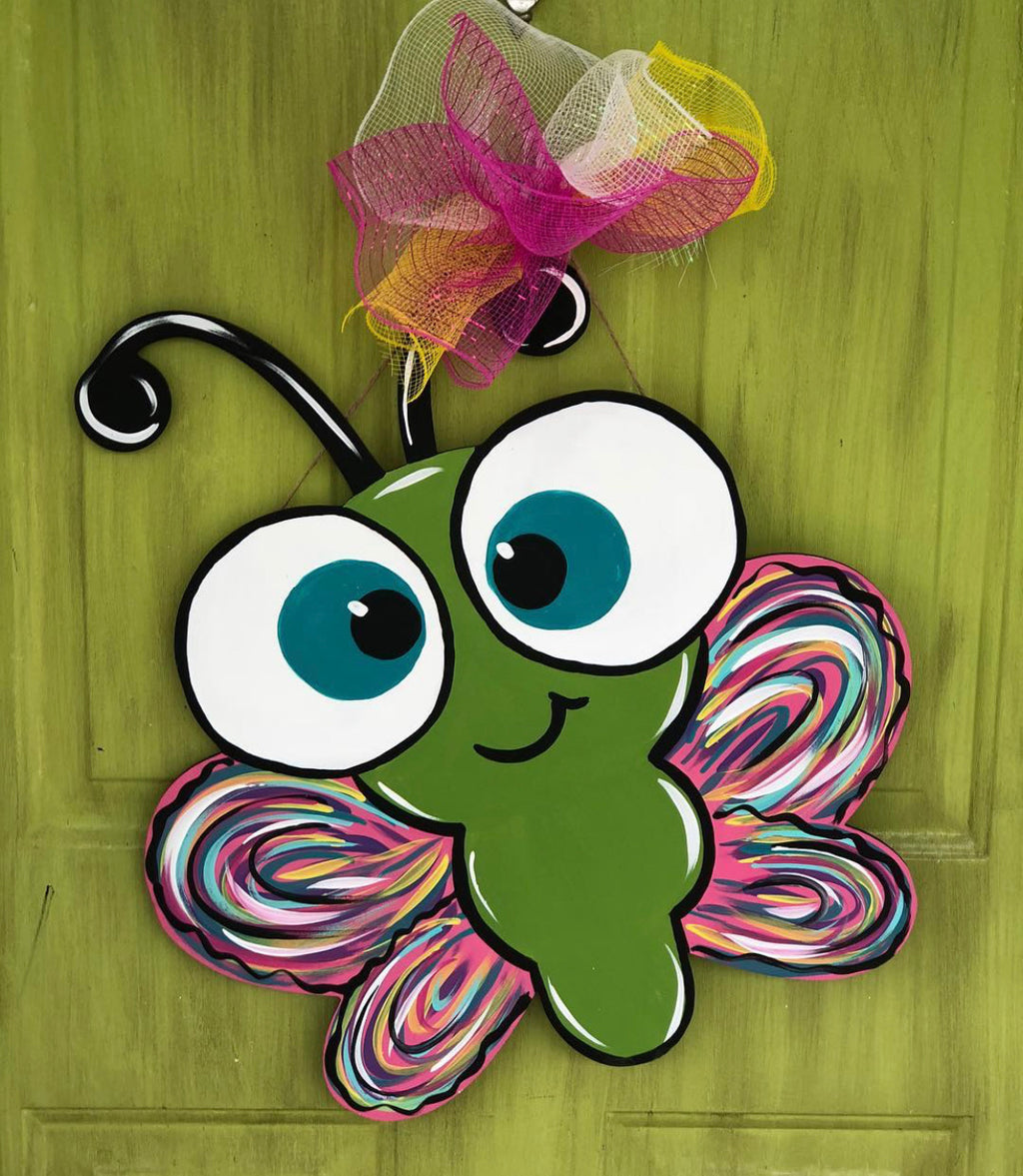 Whimsical Butterfly Door Hanger - Instructional Video Tutorial