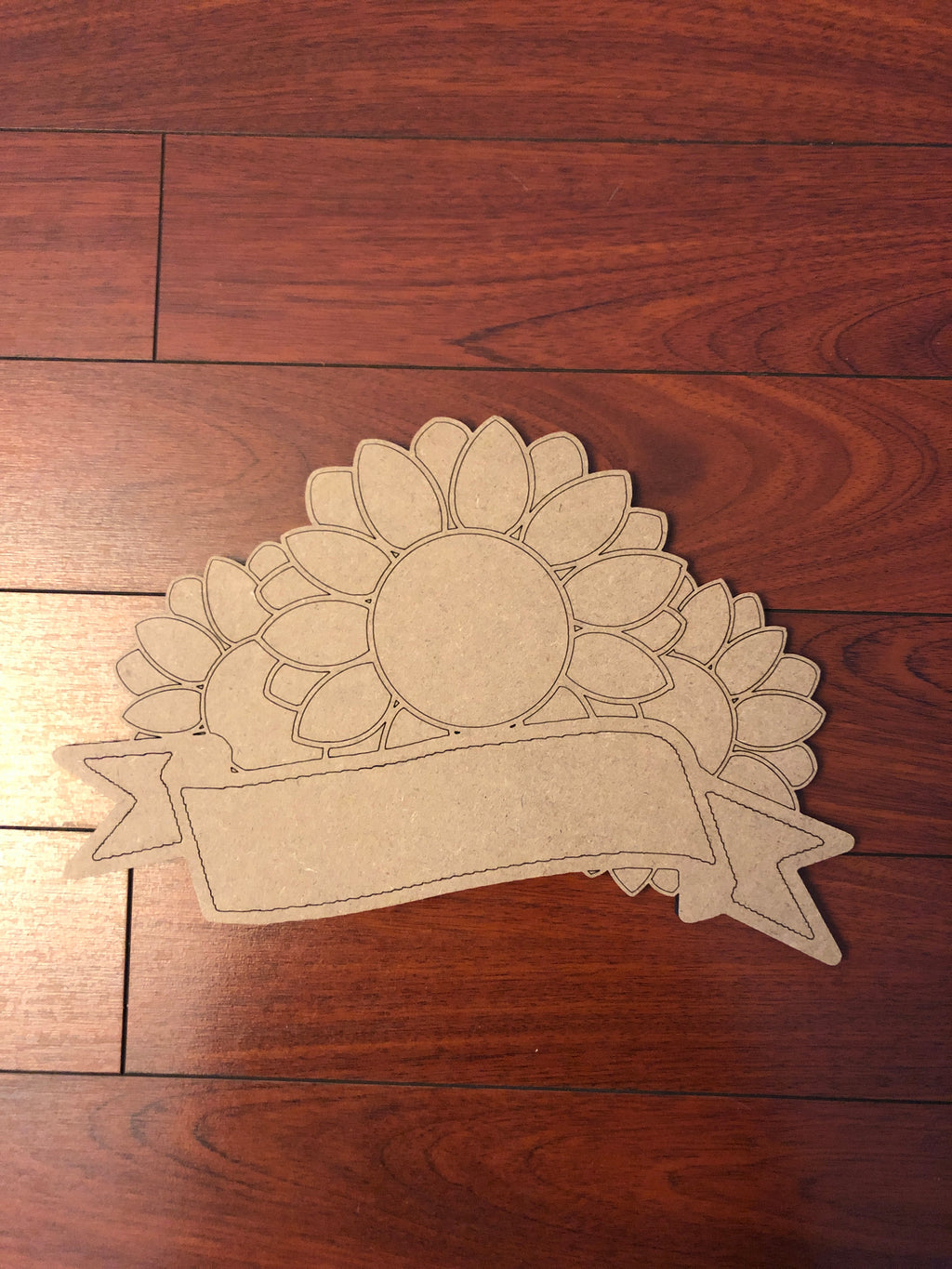 Sunflowers with Banner  BLANK Ornament, Attachment or Door Hanger