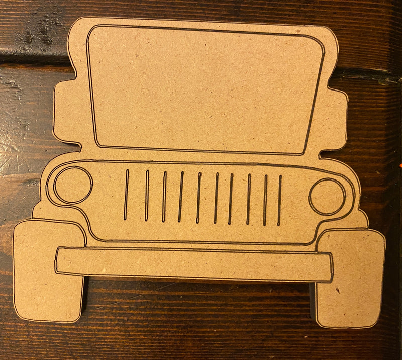 Off-Road Vehicle Wooden Blank