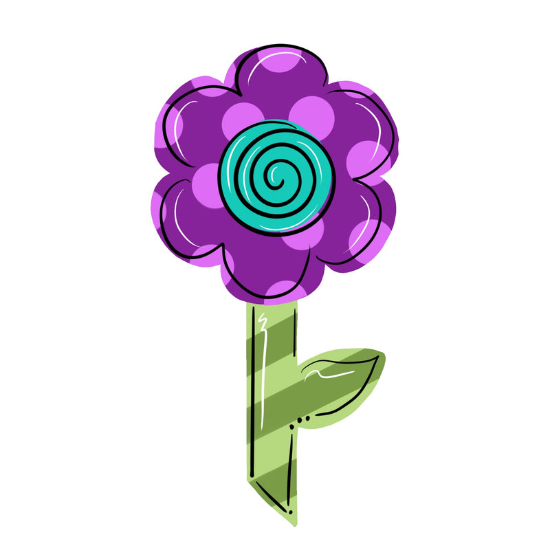 Flower with Stem Template & Digital Cut File