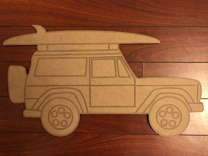 Jeep Surfer  BLANK Ornament, Attachment or Door Hanger