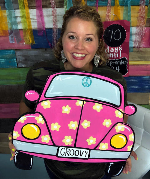 Pink Beetle Bug Door Hanger