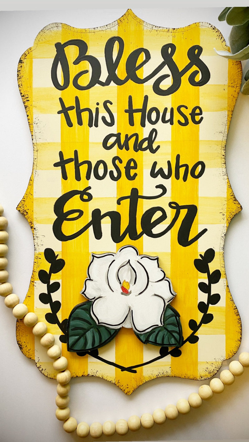 Bless This House Door Hanger - Instructional Video Tutorial