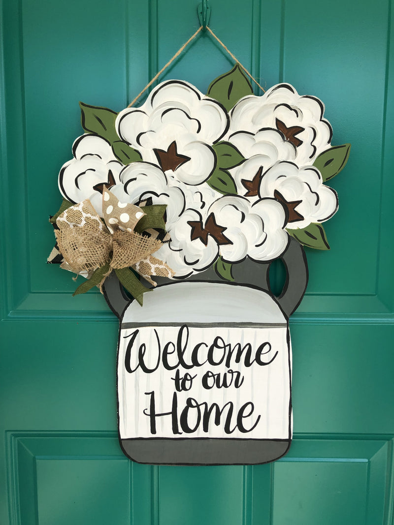 Cotton Milk Jug Door Hanger - Instructional Video Tutorial