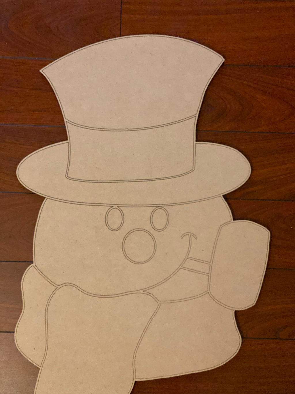 Snowman with Pipe Wooden Blank
