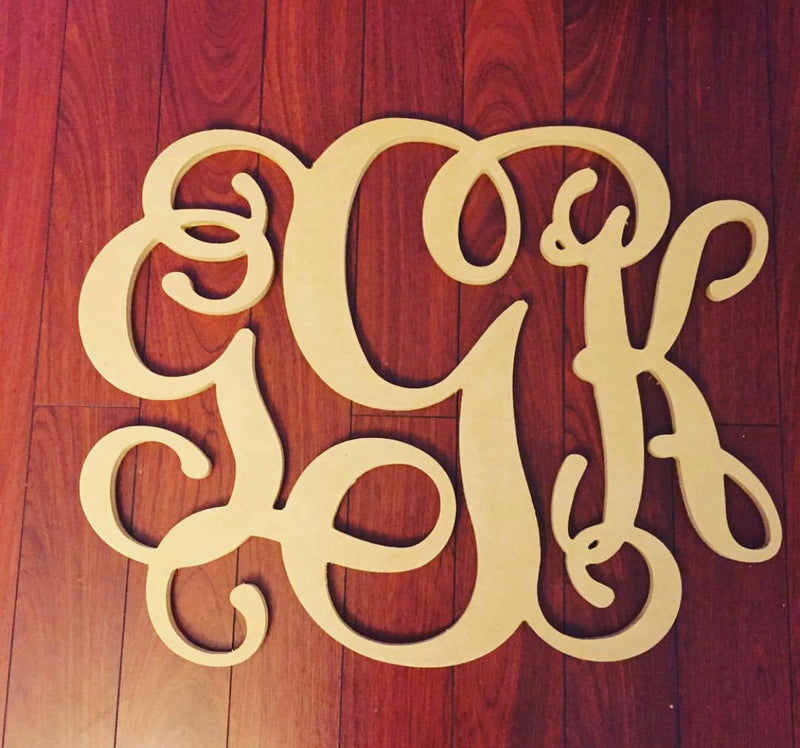 3 Letter UNFINISHED Monogram