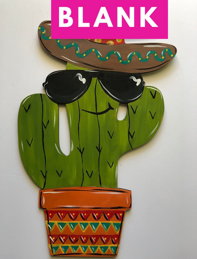 BLANK Senor Cactus Ornament, Attachment or Door Hanger
