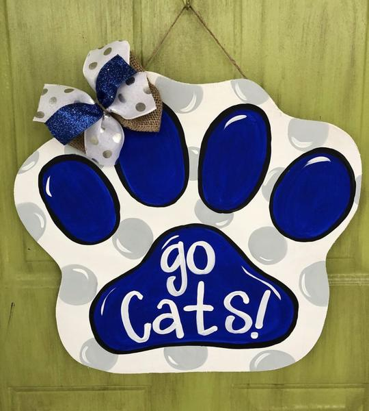 Paw Print BLANK Ornament, Attachment or Door Hanger
