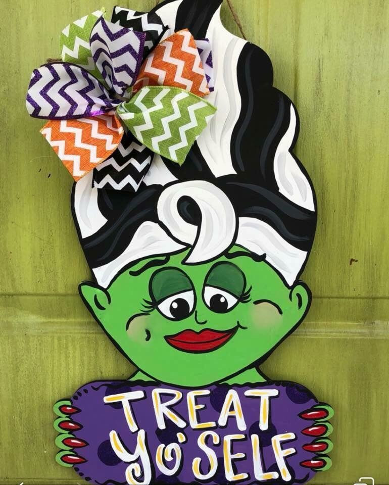 Mrs. Frankenstein Door Hanger - Instructional Video Tutorial