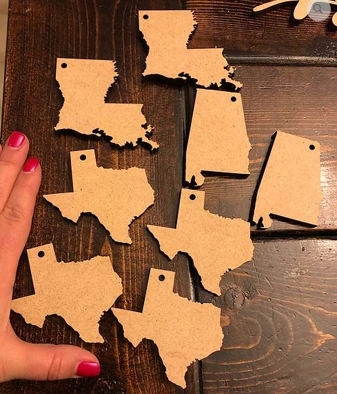 "3"" State Keychain Blanks (Set of 10)"