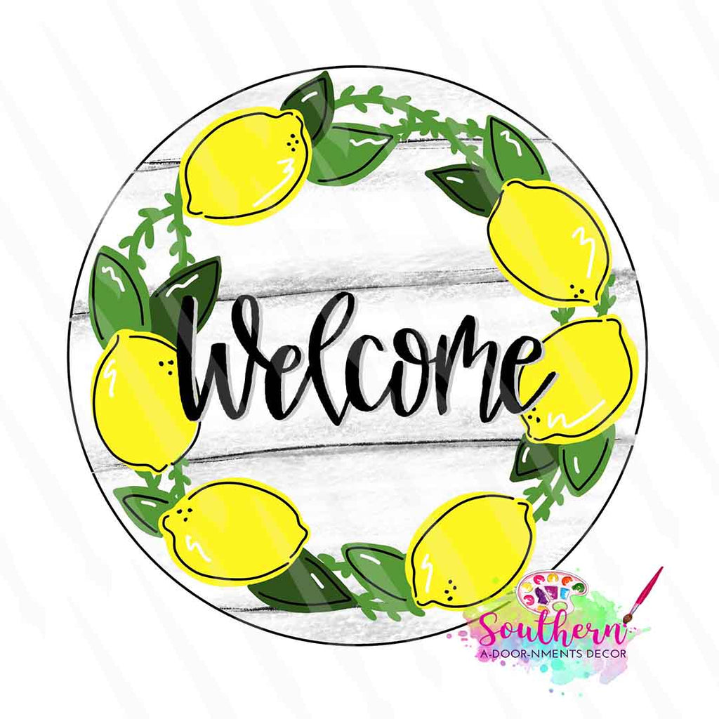 Lemon Welcome Template & Digital Cut File