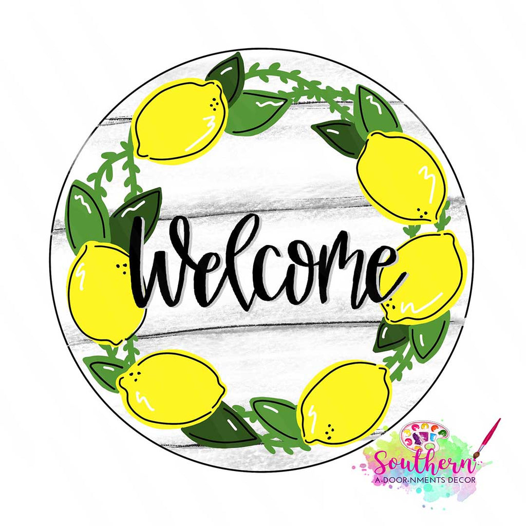 BLANK Lemon Welcome Ornament, Attachment or Door Hanger