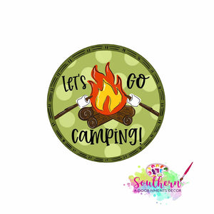 Lets Go Camping Template & Digital Cut File