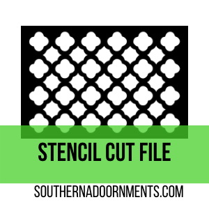 Moroccan Tile Stencil Digital Cut File