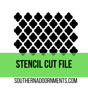 Quatrefoil Stencil Digital Cut File