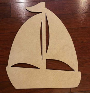 Sailboat Wooden Blank
