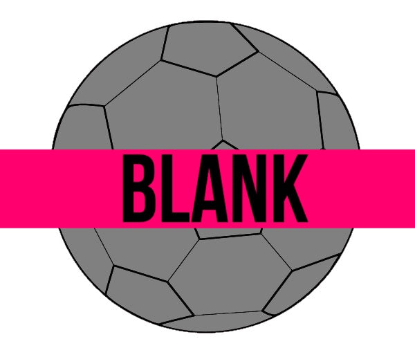 ETCHED BLANK Soccer Ball Ornament, Attachment or Door Hanger