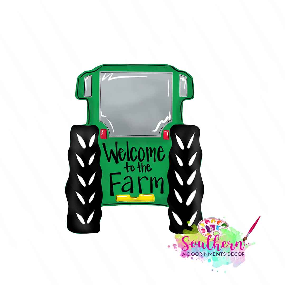 Tractor Rear Template Digital Cut File Southern Adoornments Decor