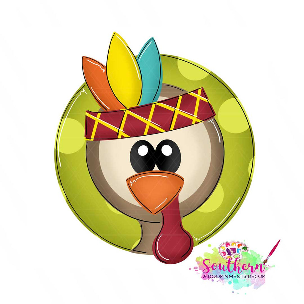 Turkey Face Template & Digital Cut File