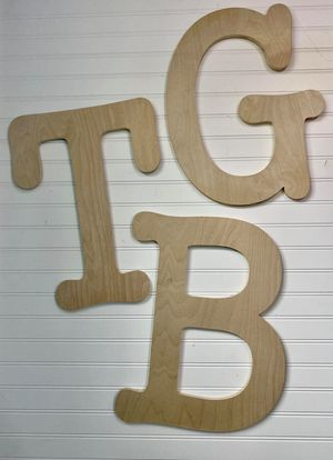 Typewriter Monogram Wooden Blank
